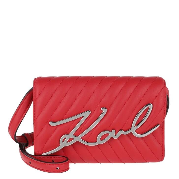 belts, Karl Lagerfeld, Signature Stitch Belt Bag Klassik Red
