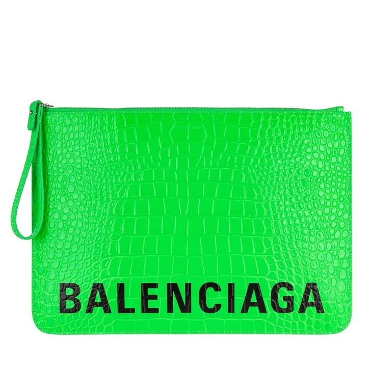 Handtasche, Balenciaga, Clutch Fluo Green Black