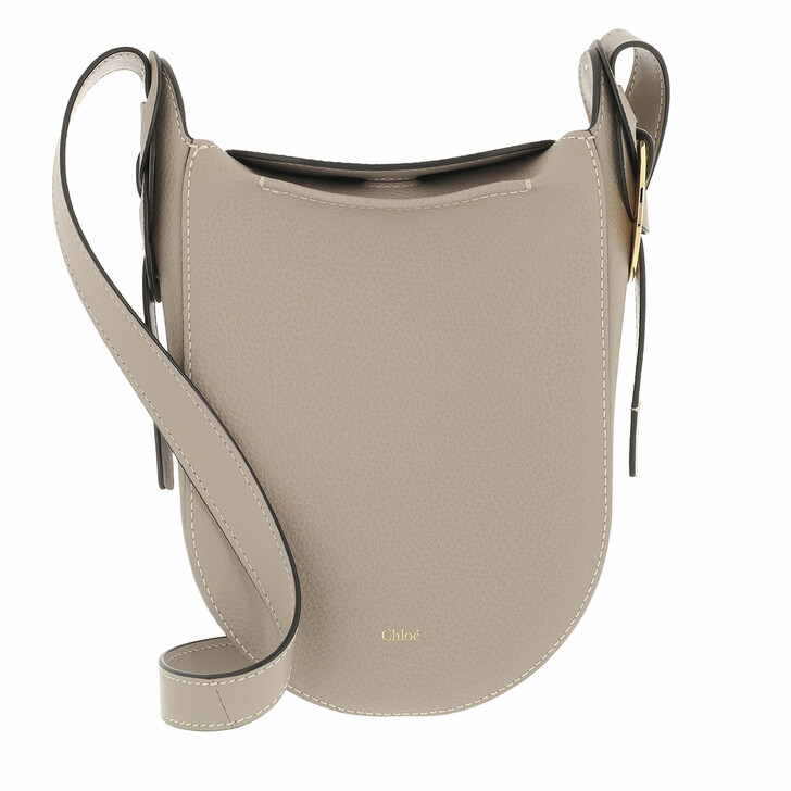 bags, Chloé, Darryl Shoulder Bag Grained Leather Motty Grey