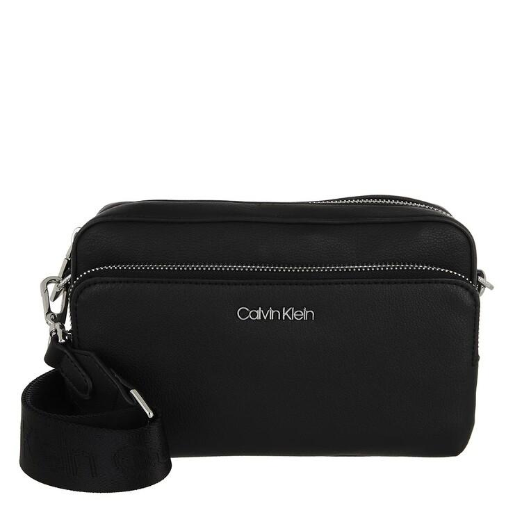 bags, Calvin Klein, CK Must Camera Bag With Pckt Large CK Black