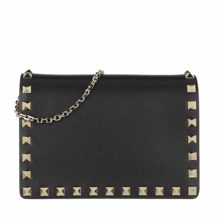 bags, Valentino Garavani, Rockstud Portatutto Pouch Black