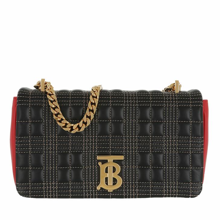 Handtasche, Burberry, TB Crossbody Bag Leather Black/Red/Camel