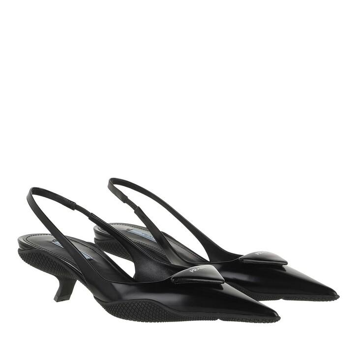 shoes, Prada, Slingback Pumps Black