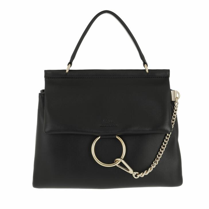 bags, Chloé, Faye Top Handle Bag Leather Black