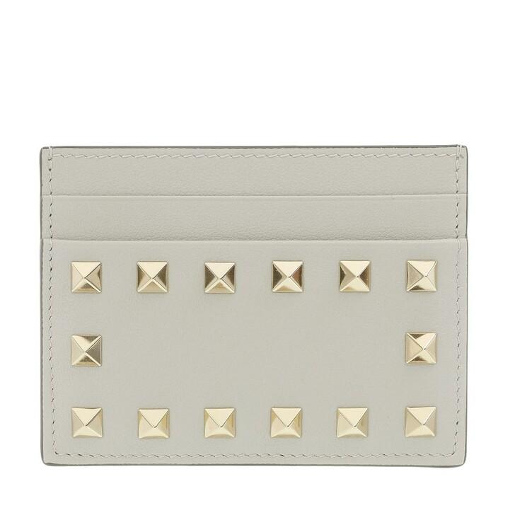 Geldbörse, Valentino Garavani, Card Holder Leather Opal Grey