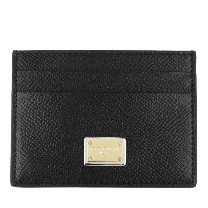 wallets, Dolce&Gabbana, Card Holder Calfskin Black