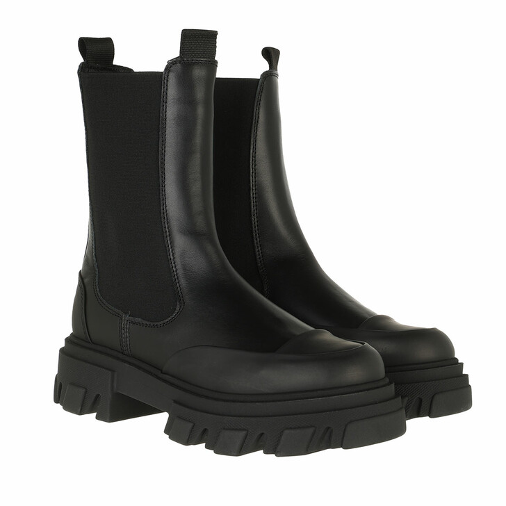 shoes, GANNI, Mid Chelsea Boot Black