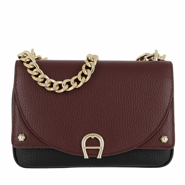 Handtasche, AIGNER, Diadora Crossbody Bag Extra Small Burgundy