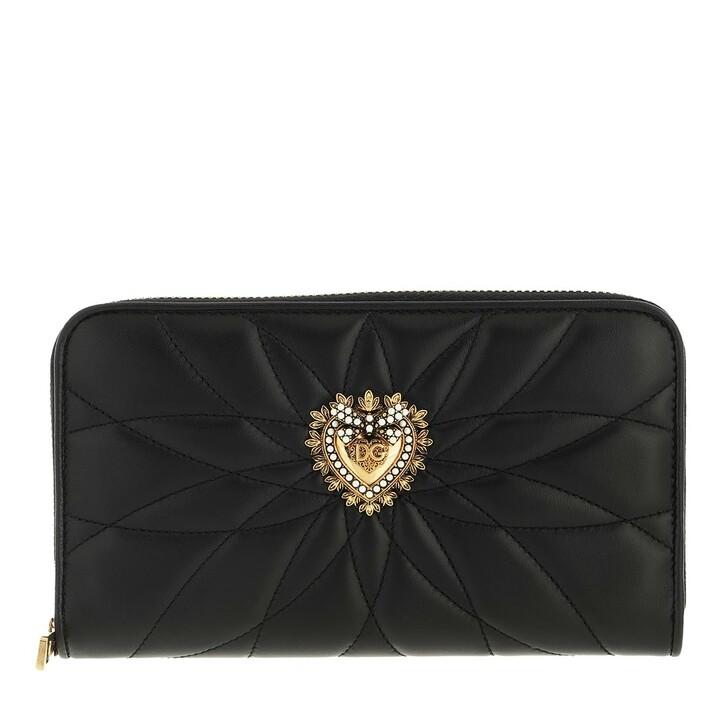 wallets, Dolce&Gabbana, Zip Around Wallet Calfskin Black