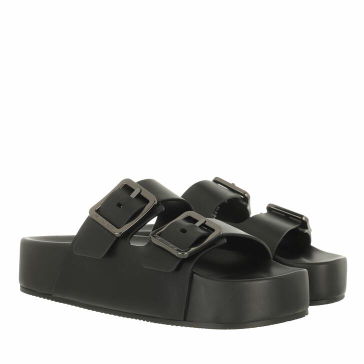 Schuh, Balenciaga, Mallorca Plateau Sandals Leather Black