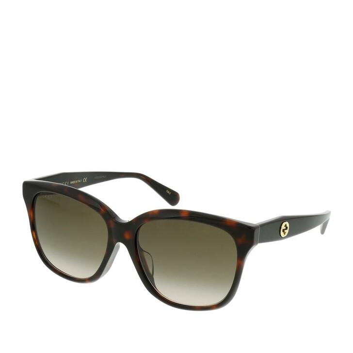 Sonnenbrille, Gucci, GG0800SA-003 56 Sunglass WOMAN ACETATE Havana