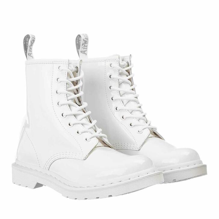 Schuh, Dr. Martens, 1460 Patent Mono Boot White