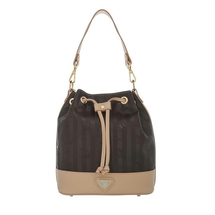 Handtasche, Maison Mollerus, Sion Bucket Bag Chocolate/Gold