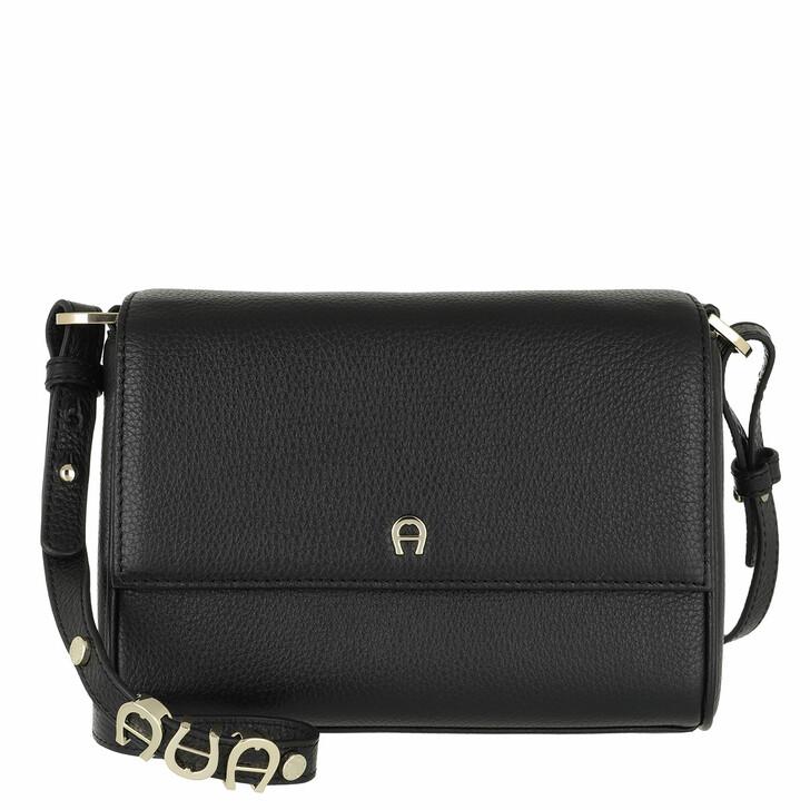 bags, AIGNER, Crossbody Bag Black