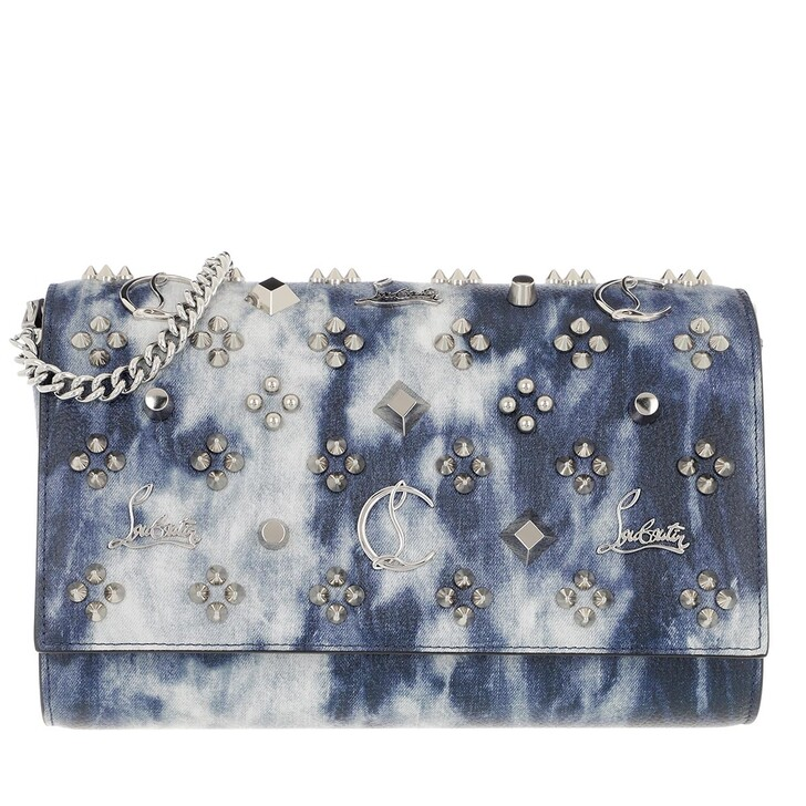 bags, Christian Louboutin, Paloma Clutch Leather Multi/Silver