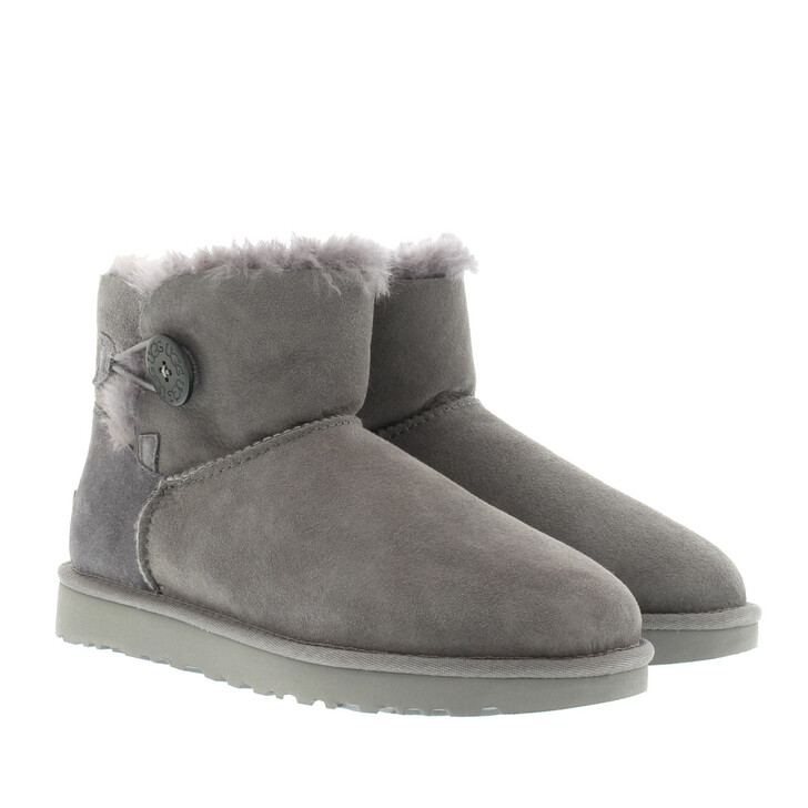 Schuh, UGG, Mini Bailey Button Boot Grey