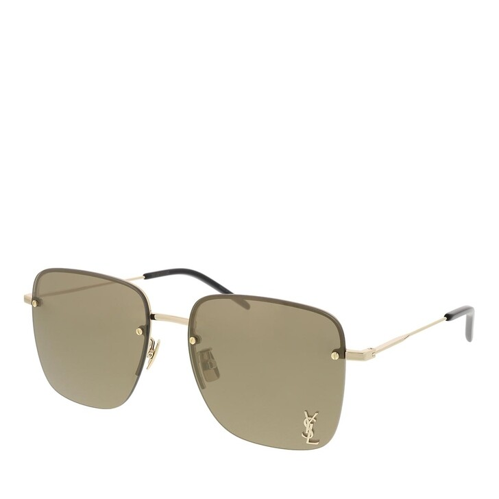 Sonnenbrille, Saint Laurent, SL 312 M-006 58 Sunglass WOMAN METAL GOLD