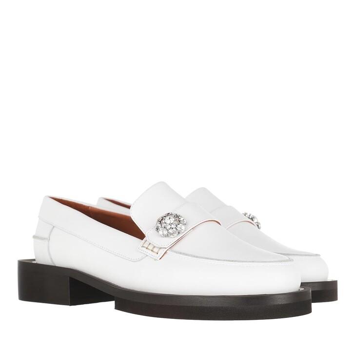 shoes, GANNI, Jewel Mocassin Egret