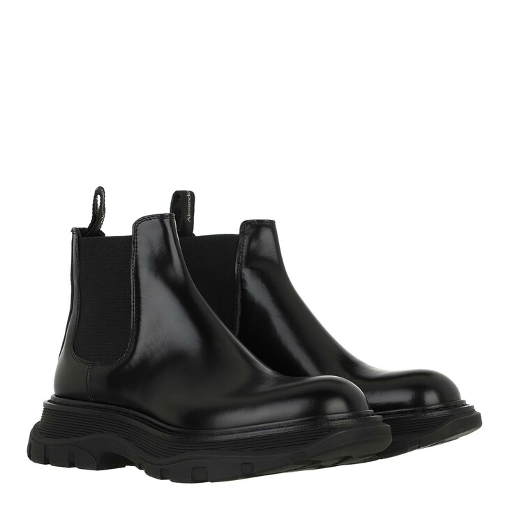 shoes, Alexander McQueen, Bootie Smooth Leather Black