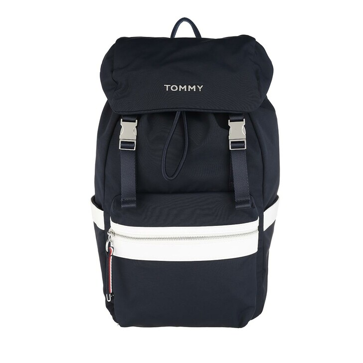 Reisetasche, Tommy Hilfiger, Nylon Backpack Sky Captain/white
