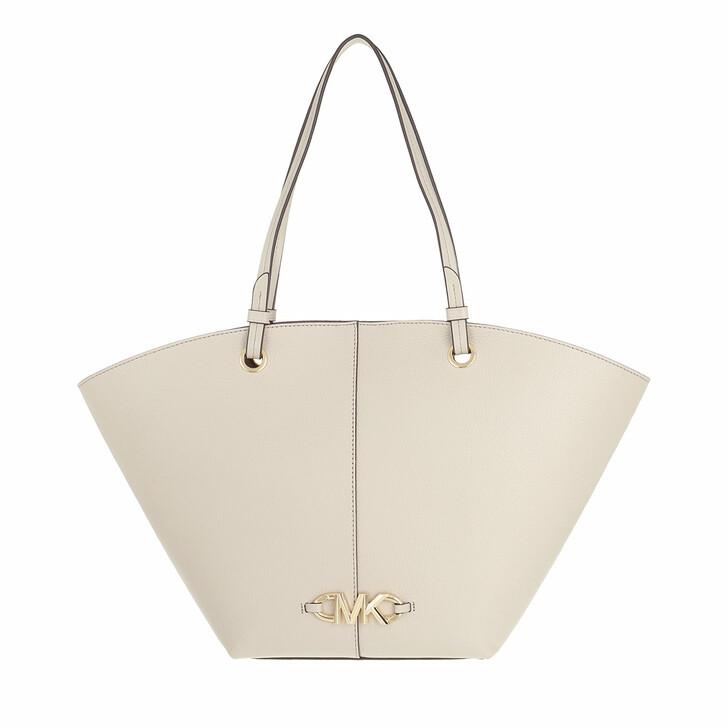 bags, MICHAEL Michael Kors, Izzy Medium Fan Tote Light Sand