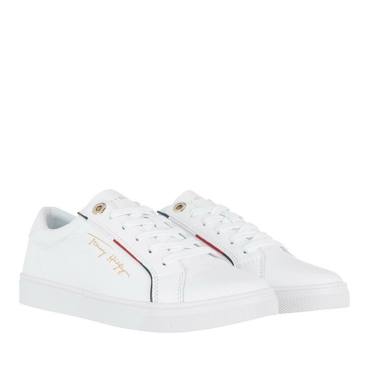 Schuh, Tommy Hilfiger, Tommy Hilfiger Signature Sneaker White