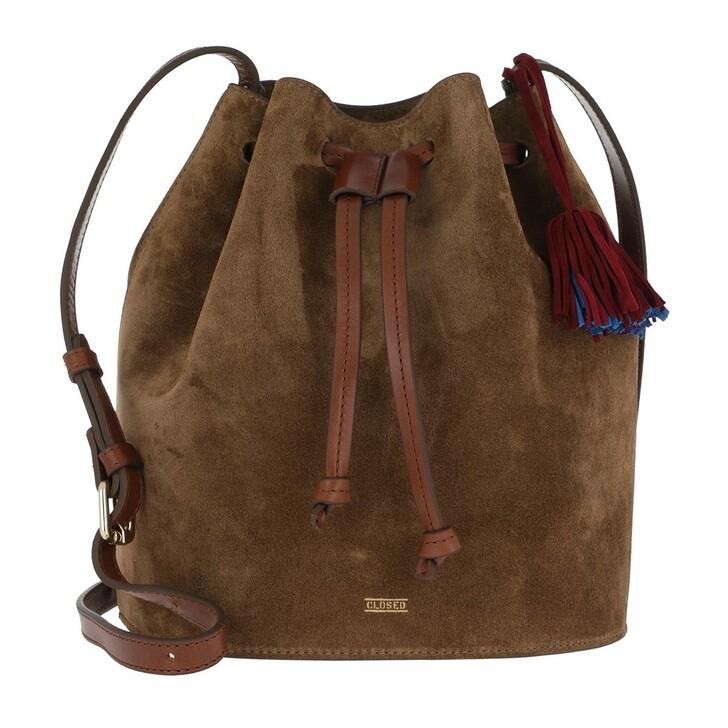 Handtasche, Closed, Berry Bucket Bag Dark Pecan
