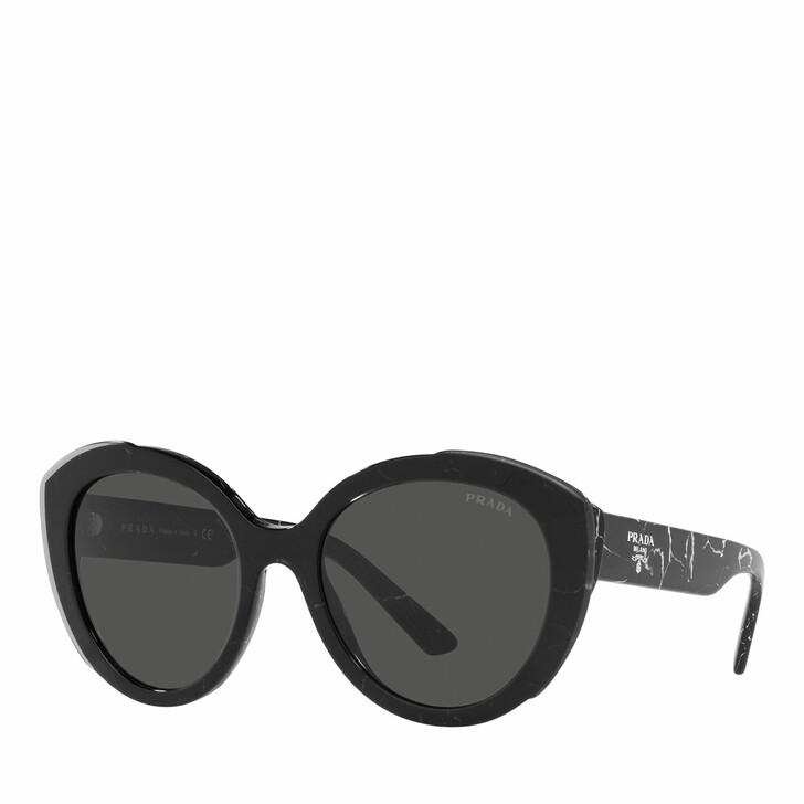 sunglasses, Prada, Woman Sunglasses 0PR 01YS Black Marble/Top Black Transparent