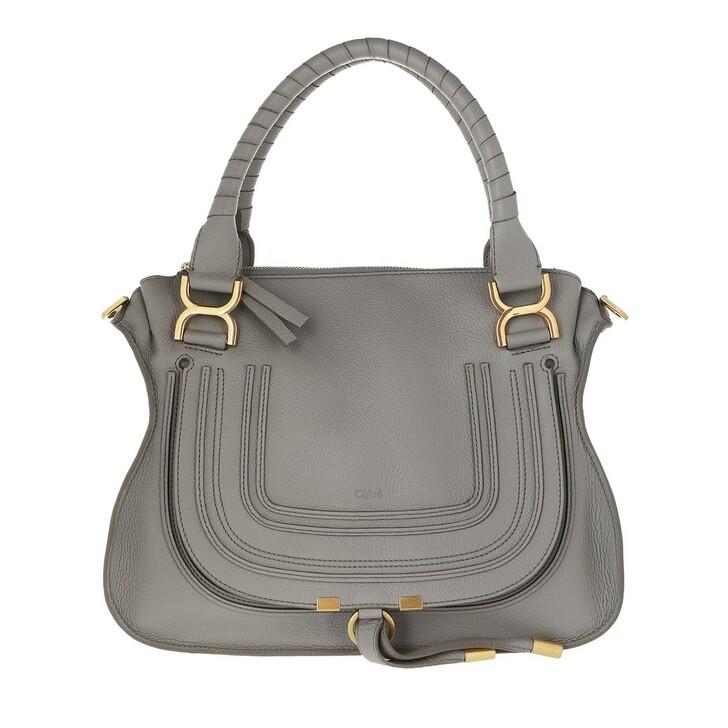 bags, Chloé, Marcie Handbag Grained Calfskin Leather Cashmere Grey