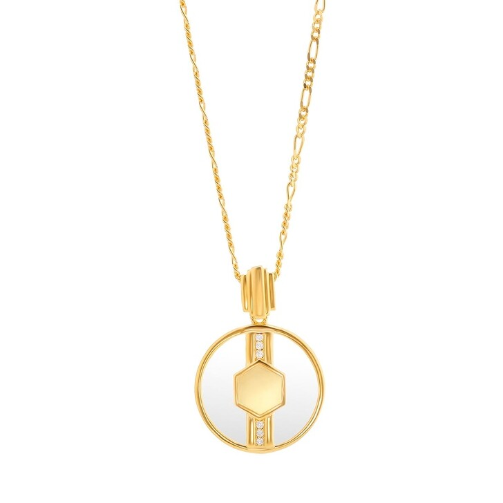 Kette, V by Laura Vann, Cindy Glass Necklace Yellow Gold