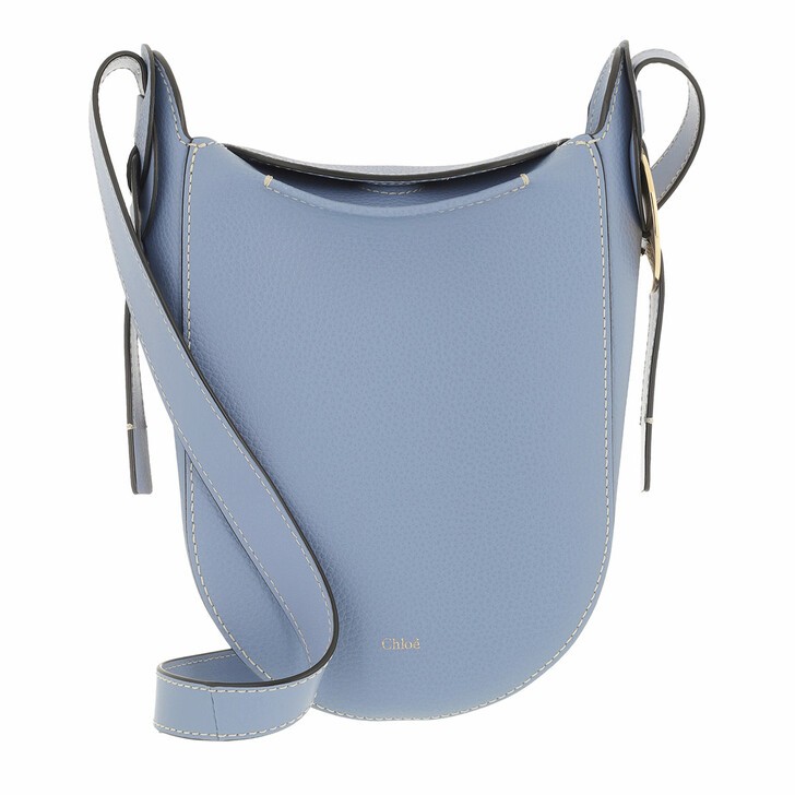 bags, Chloé, Darryl Shoulder Bag Grained Leather Gentle Blue