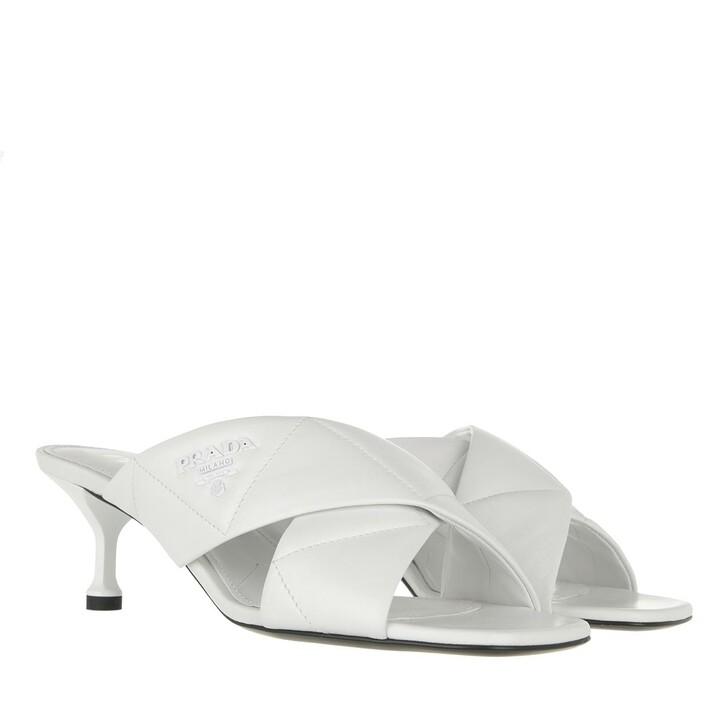 shoes, Prada, Heeled Mules Leather White