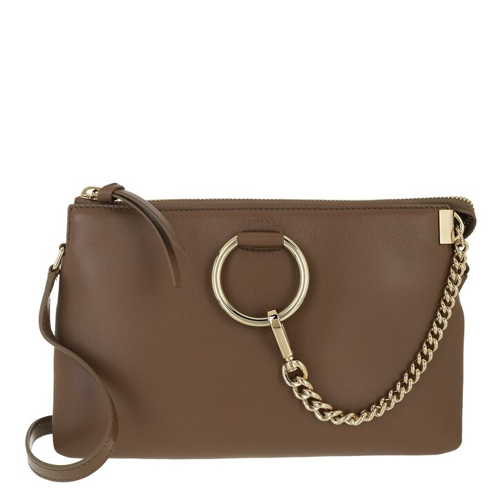 bags, Chloé, Faye Soft Zipped Shoulder Bag Desert Taupe