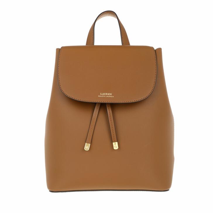 Reisetasche, Lauren Ralph Lauren, Flap Backpck Backpack Medium Lauren Tan/Monarch Orange