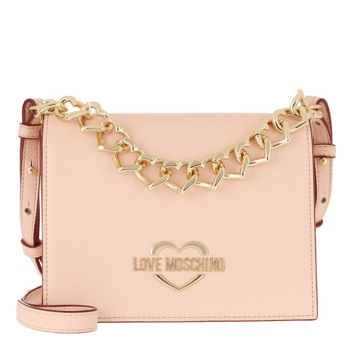 Handtasche, Love Moschino, Borsa Crossbody Bag Chain Naturale