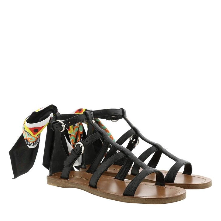 Schuh, Prada, Sandals Saffiano Leather Black
