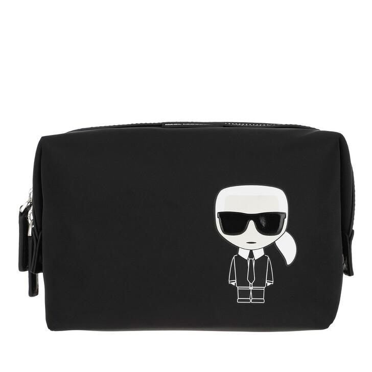 Necessaire, Karl Lagerfeld, K/Ikonik Nylon Washbag Black