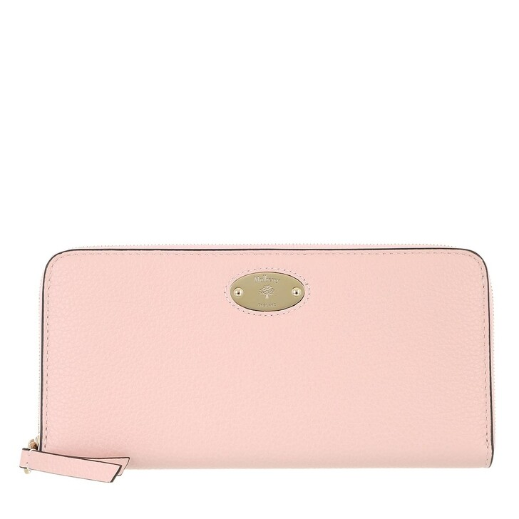 wallets, Mulberry, Plaque 8 Credit Card Zip Purse Leather Icy Pink