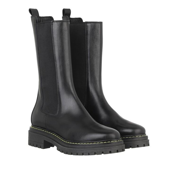shoes, Pinko, Natalie 1 Stivale Pelle Vitell Nero Limousine