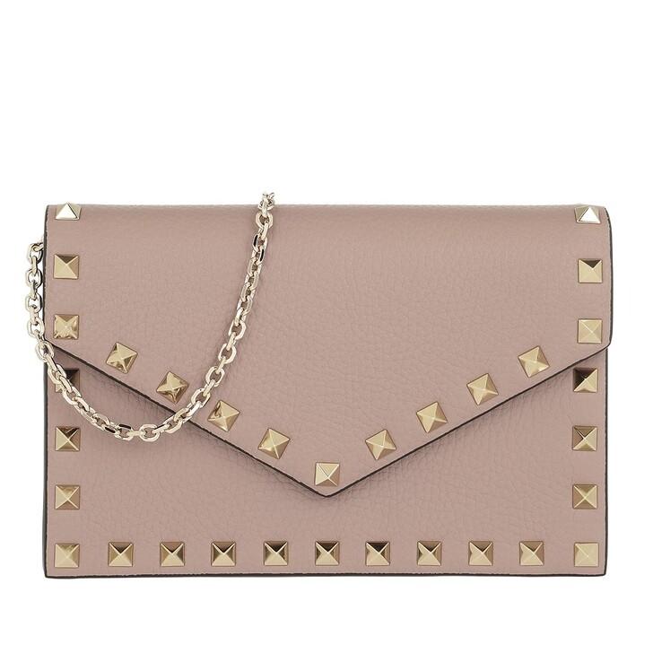 Handtasche, Valentino, Rockstud Envelope Shoulder Bag Poudre
