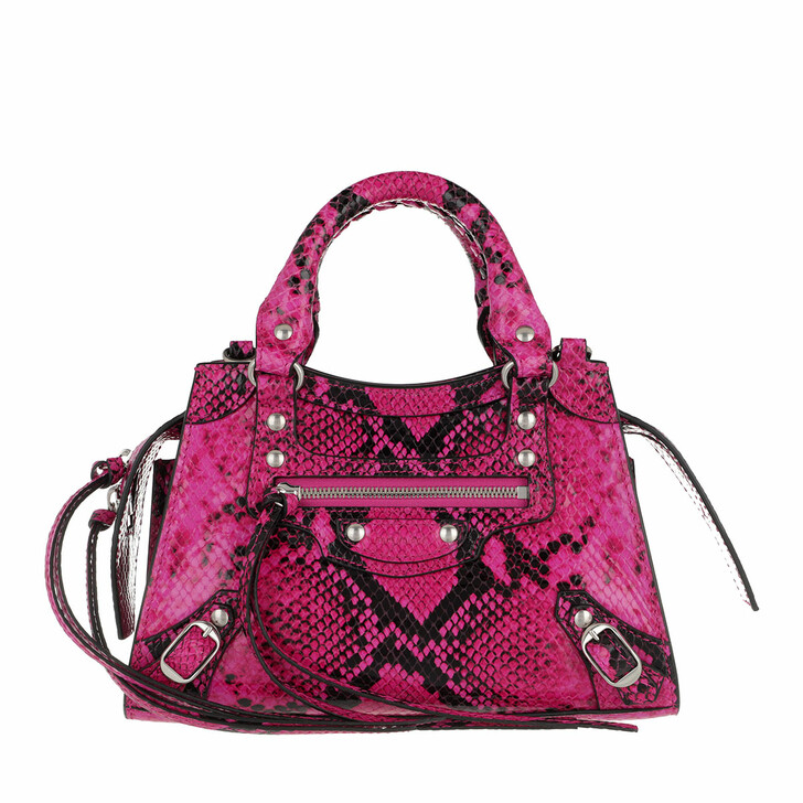 Handtasche, Balenciaga, Shoulder Bag Fuchsia Black