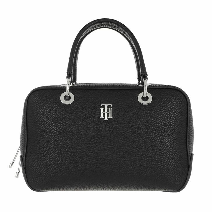 Handtasche, Tommy Hilfiger, TH Essence Medium Duffle Bag Black