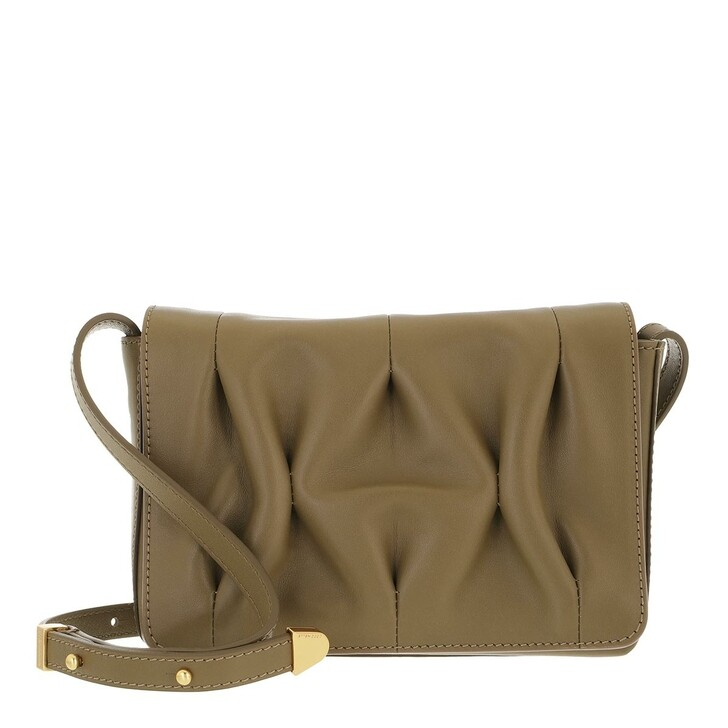 bags, Coccinelle, Handbag Smooth Calf Leather Soft  Moss Green