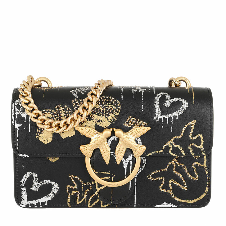 Handtasche, Pinko, Love Mini Icon Street Art Crossbody Black