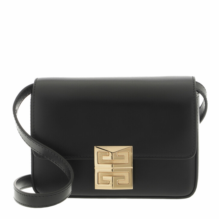 bags, Givenchy, Small 4G Box Crossbody Leather Black