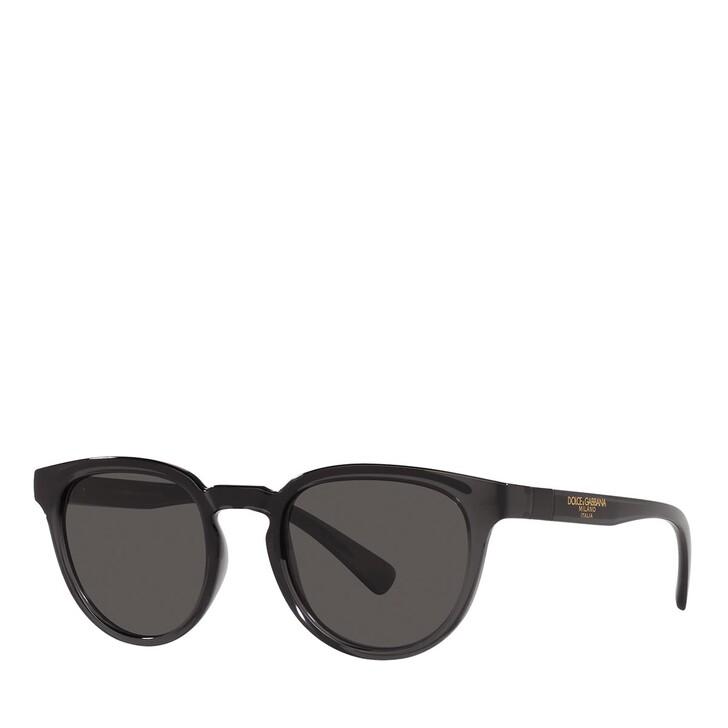 Sonnenbrille, Dolce&Gabbana, 0DG6148 TRANSPARENT GREY/BLACK