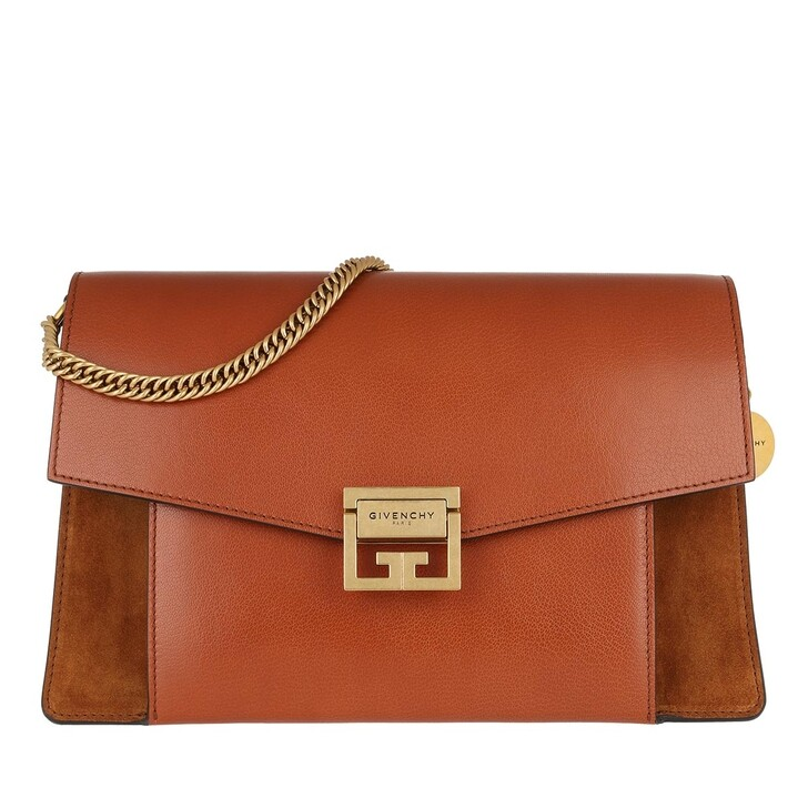 Handtasche, Givenchy, Medium GV3 Bag Leather Chestnut