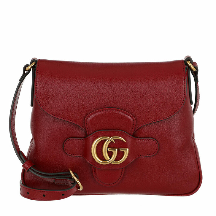 bags, Gucci, GG Dhalia Crossbody Bag Leather New Cherry Red