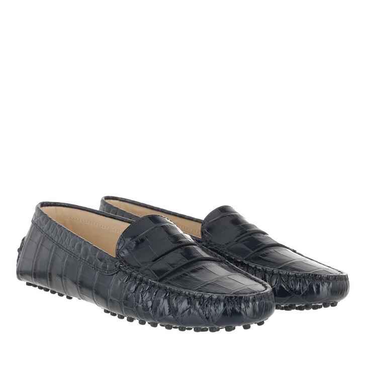 Schuh, Tod's, Penny Loafer Suede Dark Galaxy