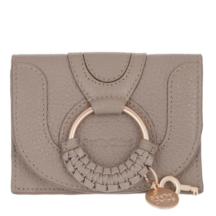 Geldbörse, See By Chloé, Hana Card Holder Leather Motty Grey